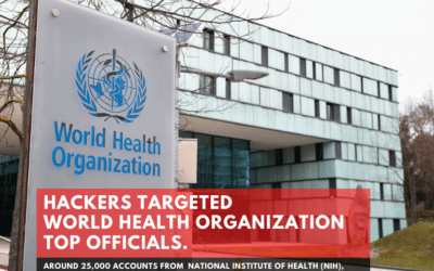 Hackers targeted World Health Organization top Officials.